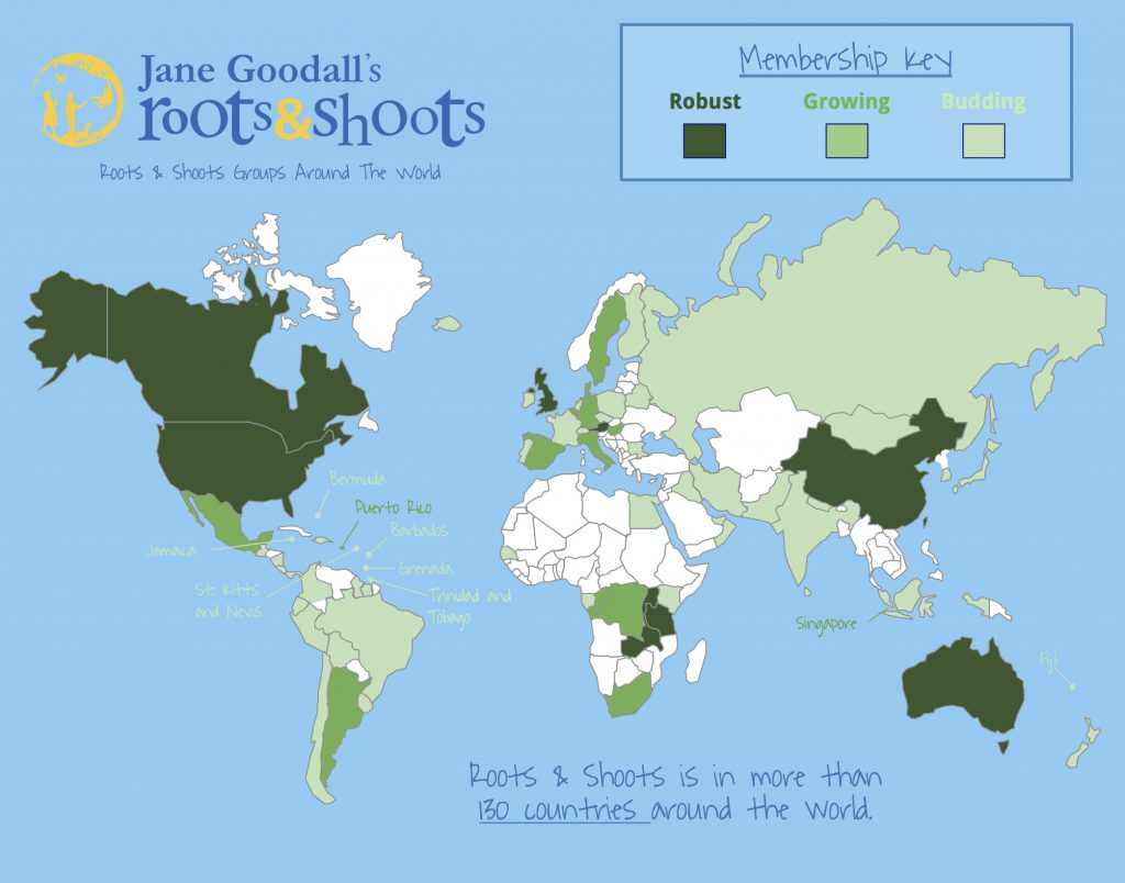 Roots & Shoots 2015 Global Map